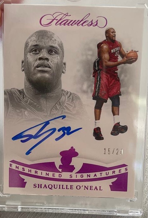Flawless Shaquille O'Neal Autographed Basketball Training Card