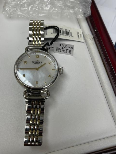 Ladies Shinola Stainless Steel & Gold-Tone Watch
