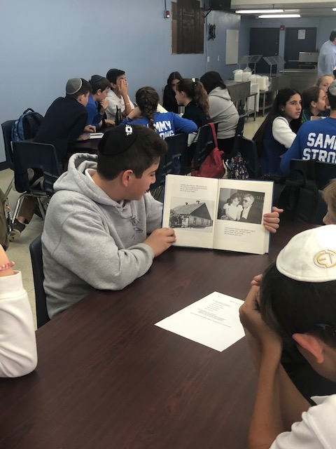 Middle School Students Begin Yom Hashoah Cooperative Learning Projects
