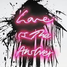 Love is the Answer (PINK) Artwork by Mr. Brainwash