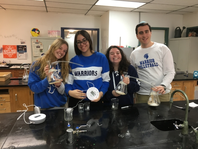 Ninth Grade Biology and Twelfth Grade AP Biology Finish CO2 Experiments using Labdisc