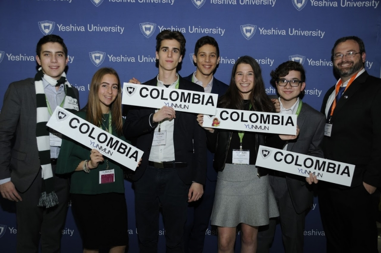 High School Students Represent Colombia at Yeshiva University's National Model UN Competition